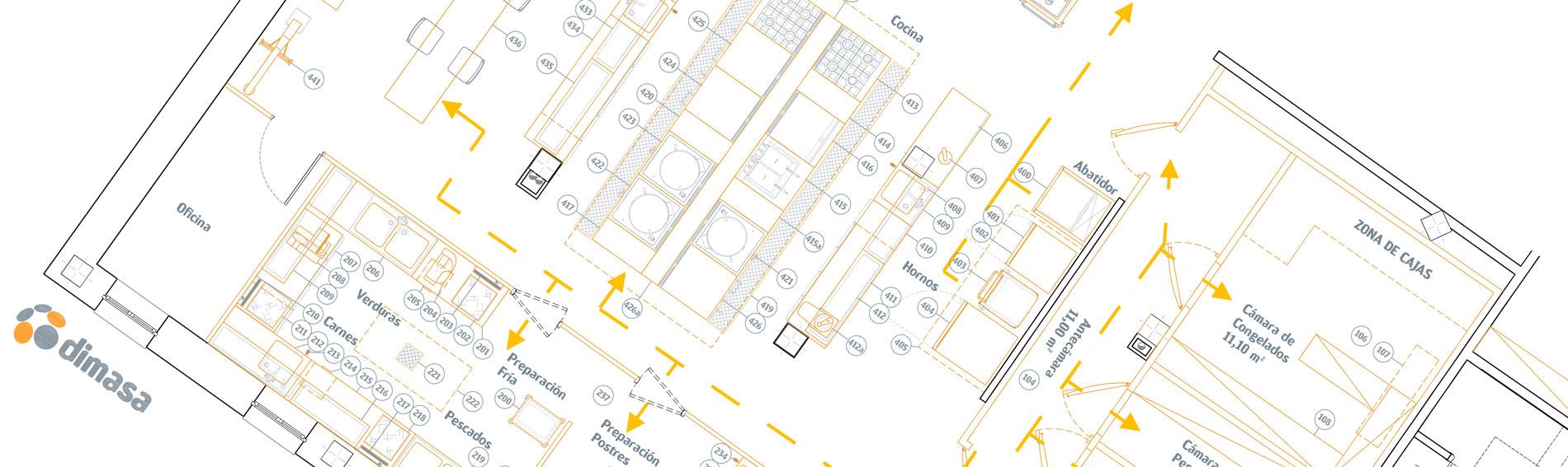 residencia mayores plano - Cocinas industriales